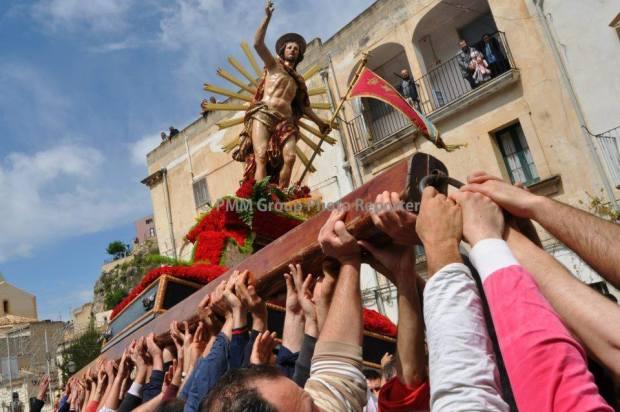 La statua del Cristo Risorto chiamato dai devoti Gioia.